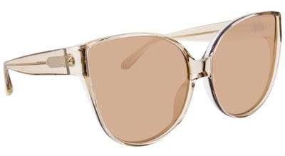 Linda Farrow Ladies' Cat Eye Rose Gold Sunglasses