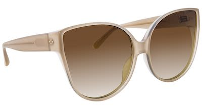 Linda Farrow Ladies' Cat Eye Acetate Milky Tobacco Sunglasses