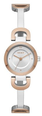 DKNY Ladies' City Link Silver/Rose Gold Watch