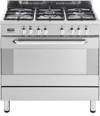 Witt Gas Cooker 90 cm, silver