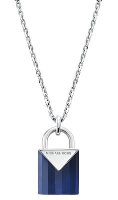 Michael Kors Blue Padlock Necklace
