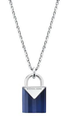 Michael Kors Ladies' Blue Padlock Necklace