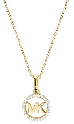 Michael Kors Ladies' Custom Necklace gold