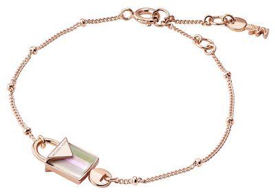 Michael Kors Ladies' Pink Padlock Bracelet
