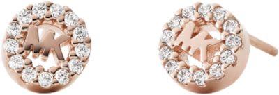 Michael Kors Ladies' Rose Gold Logo Earrings