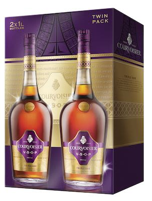 Courvoisier VSOP 2 x 100 cl. - 40% vol. In gift box.
