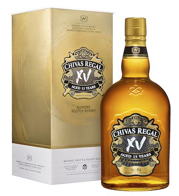 Chivas Regal XV 15 YO,  100 cl. - 40% Vol. In gift box.