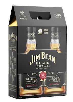 J.Beam Black 2 x 100cl. - 43%  vol. In gift box.