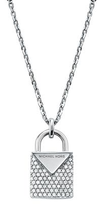 Michael Kors Ladies' Silver Padlock Necklace
