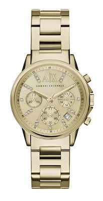 Armani Exchange Lady Banks Ladies' Gold Watch
