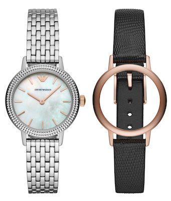 Emporio Armani Interchangeable Ladies' Watch Set