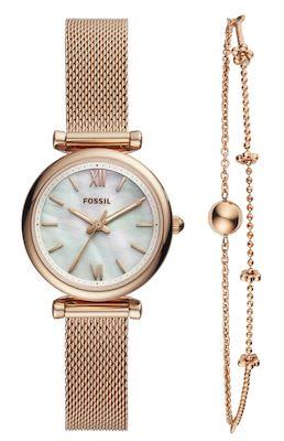 Fossil Ladies' Carlie Watch and Bracelet Set