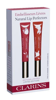 Clarins Duo Instant Light Lip Perfector Pink Grapefruit N° 13 12 ml + Instant Light Lip Perfector Mandarine N° 14 12 ml