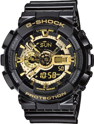 CASIO Gent's G-SHOCK Black/Gold Watch