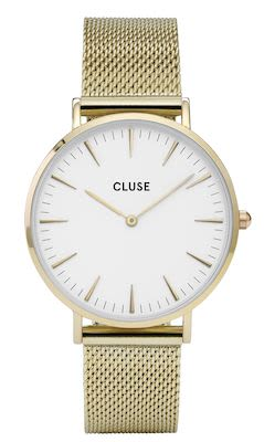 Cluse La Bohème Ladies' Mesh Watch Gold