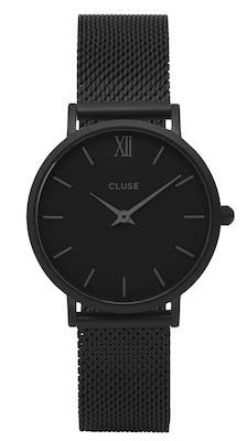 Cluse Minuit Ladies' Mesh Watch Black