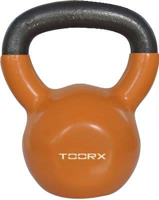 Toorx Orange Vinyl Coated Kettlebell 8 kg.