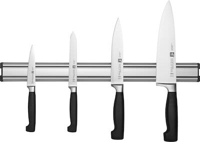Zwilling 5-pcs Four Star Knives/Magnetic Bar Set