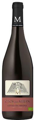 Clos des Miran Côtes du Rhône Rouge Organic 75cl. - Alc. 14,5% Vol