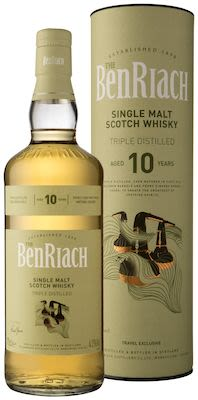 BenRiach Triple Distilled 10 YO, 70 cl. - Alc. 43% Vol. In gift box. Speyside.