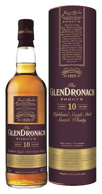 The GlenDronach Forgue 10 YO, 100 cl. - Alc. 43% Vol. In gift box. Highland.