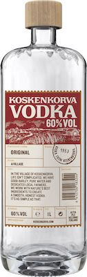 Koskenkorva Vodka 100 cl. - Alc. 60% Vol.