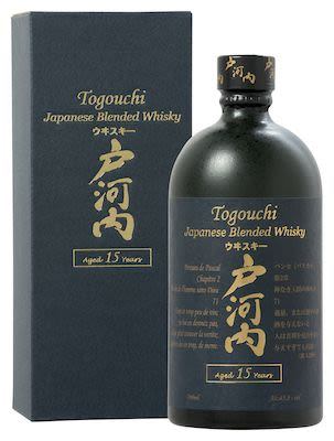 Togouchi 15 YO, 70 cl. - Alc. 43.8% Vol. In gift box.