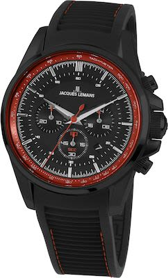 J.L. Gent's Sport Liverpool Chrono Watch IP-Black/Red