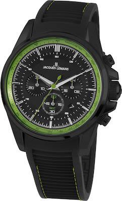 J.L. Gent's Sport Liverpool Chrono Watch IP-Black/Green
