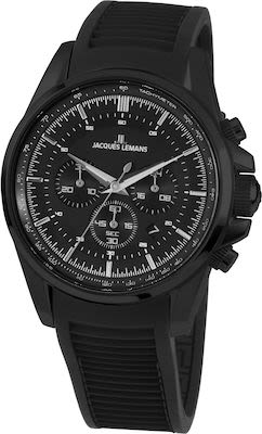 J.L. Gent's Sport Liverpool Chrono Watch IP-Black
