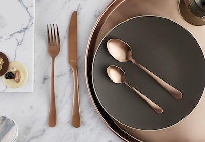 Amefa 24-pcs Austin Copper Cutlery Set