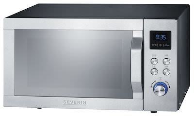 Severin MW7755 Inverter Microwave w/ Grill and Hot Air Silver 25 ltr