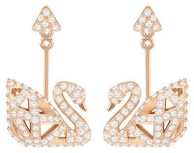 Swarovski Facet Swan Earrings