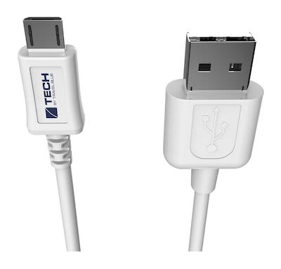 Travel Blue Micro USB Data Sync and Charge Cable