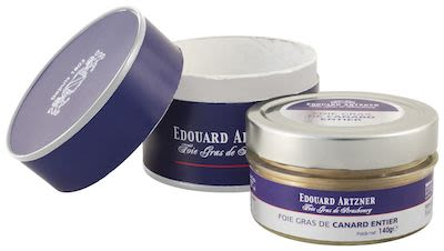 Edouard Artzner Whole Duck Foie Gras in glas jar 140 g
