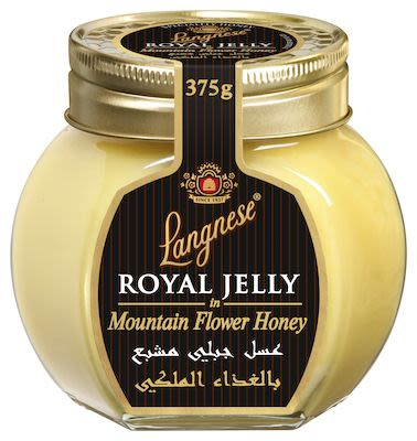 Langnese Royal Jelly in Mountain Flower Honey in glass jar 375 g