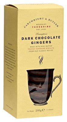 Cartwright & Butler Dark chocolate gingers 200 g