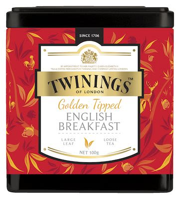 Twinings Golden Tipped English Breakfast in  tin 100g