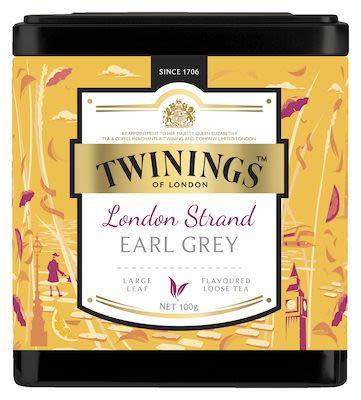 Twinings London Strand Earl Grey in tin 100g