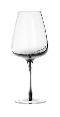 White wine glass 'Smoke' mouthblown glass 24 pcs