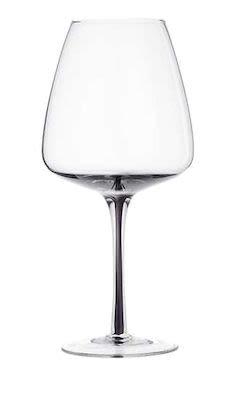 Red wine glass 'Smoke' mouthblown glass 24 pcs