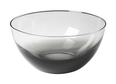 Bowl 'Smoke' mouthblown glass 2 pcs
