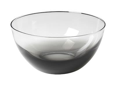 Bowl 'Smoke' mouthblown glass