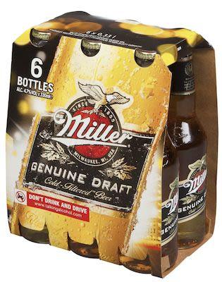 Best Before 16.08.2019 Miller Genuine Draft 24x33 cl. blts. - Alc. 4.7% Vol.