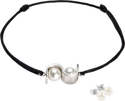 Misaki Ladies' Initials Bracelet Set