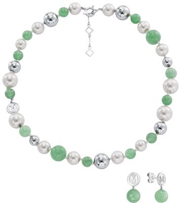 Misaki Ladies' Sweet Green Necklace Set