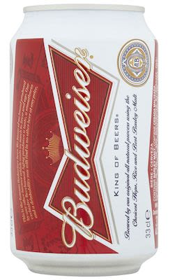 Budweiser 24x33 cl. cans. - Alc. 5.0% Vol.