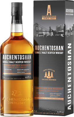 Auchentoshan American Oak 100 cl. - Alc. 40% Vol. Gift Box.