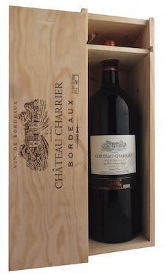 Château Charrier Bordeaux 150 cl. - Alc. 13,5% Vol. In wooden box