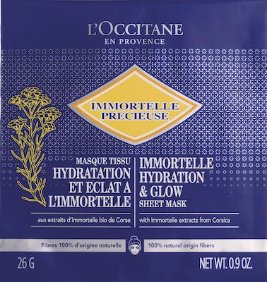 L'Occitane Immortelle Precieuse Instant Smoothness Sheet Mask 25 ml